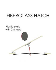 Plate for fiberglass hatches #1542